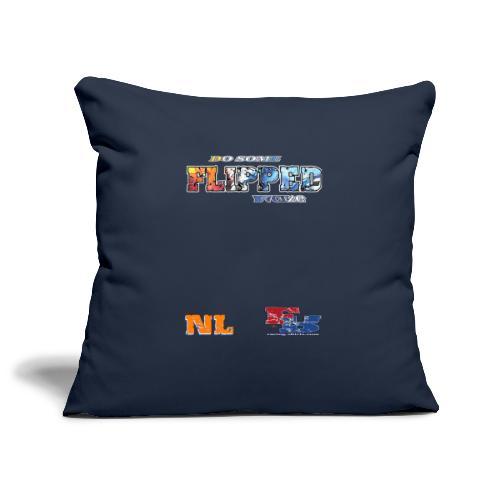 Flipped Racing, Do Some W / Logo - Sofa pillowcase 17,3'' x 17,3'' (45 x 45 cm)