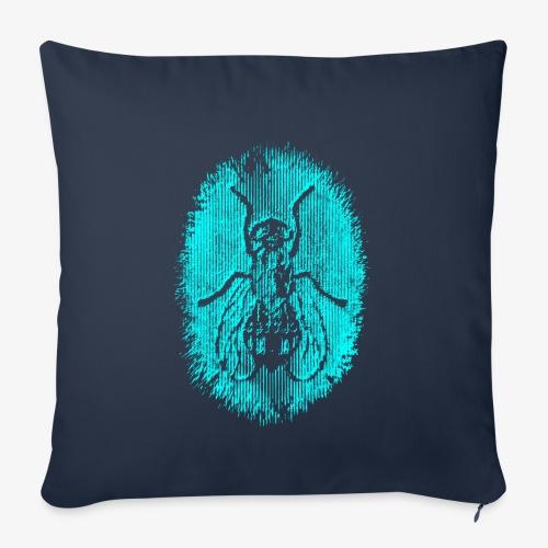 Fluga Turquoise - Soffkuddsöverdrag, 45 x 45 cm
