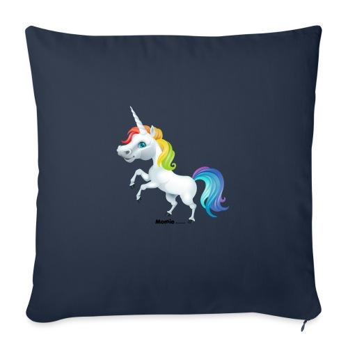 Rainbow enhjørning - Sofaputetrekk 45 x 45 cm