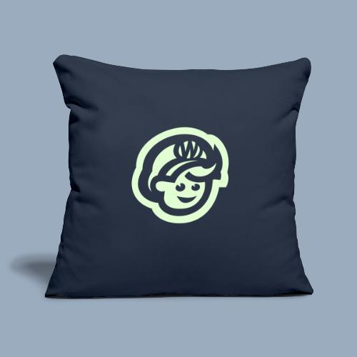 logo bb spreadshirt bb kopfonly inv - Sofa pillowcase 17,3'' x 17,3'' (45 x 45 cm)