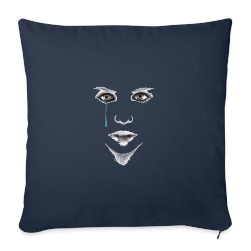 Blue tear - Housse de coussin décorative 45x 45cm