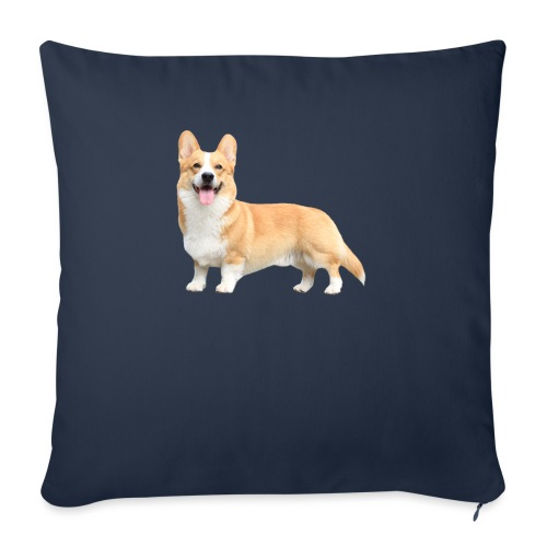 Topi the Corgi - Sideview - Sofa pillowcase 17,3'' x 17,3'' (45 x 45 cm)