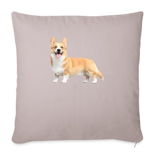 Topi the Corgi - Sideview - Sofa pillowcase 17,3'' x 17,3'' (45 x 45 cm)