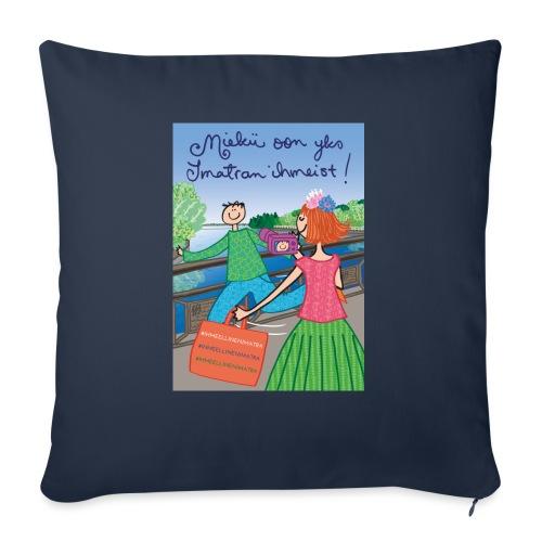 Virkkukoukkunen - Miekii oon yks Imatran ihmeist! - Sohvatyynyn päällinen 45 x 45 cm