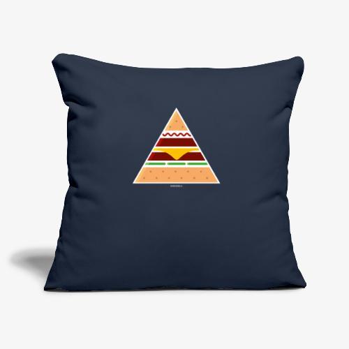 Triangle Burger - Copricuscino per divano, 45 x 45 cm