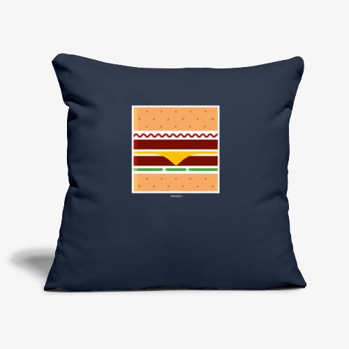 Square Burger - Copricuscino per divano, 45 x 45 cm