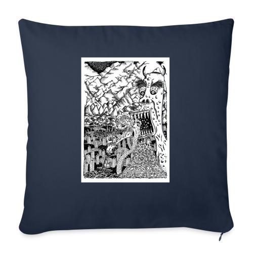 Sea Monsters T-Shirt by Backhouse - Sofa pillowcase 17,3'' x 17,3'' (45 x 45 cm)