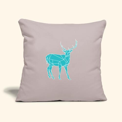 Blue Reindeer - Sofa pillowcase 17,3'' x 17,3'' (45 x 45 cm)