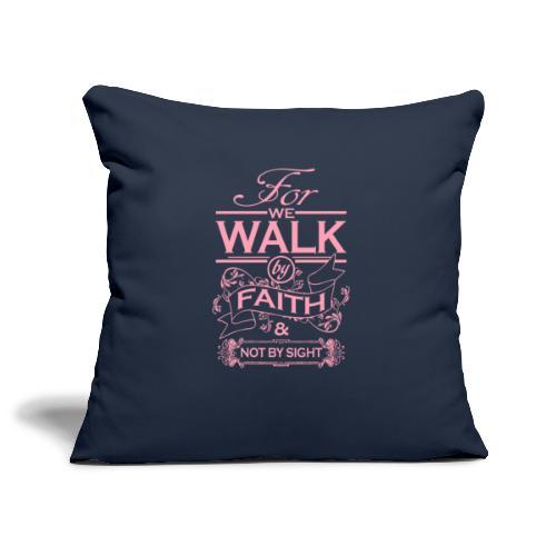 walk pink - Sofa pillowcase 17,3'' x 17,3'' (45 x 45 cm)