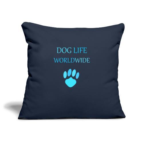 Blue Paw Print - Sofa pillowcase 17,3'' x 17,3'' (45 x 45 cm)