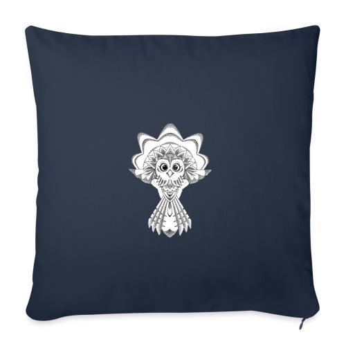 owl dotwork - Sofa pillowcase 17,3'' x 17,3'' (45 x 45 cm)