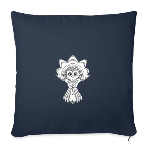 owl dotwork - Sofa pillowcase 17,3'' x 17,3'' (45 x 45 cm)