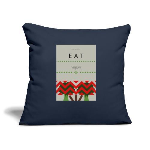 Eat Vegan - Poszewka na poduszkę 45 x 45 cm