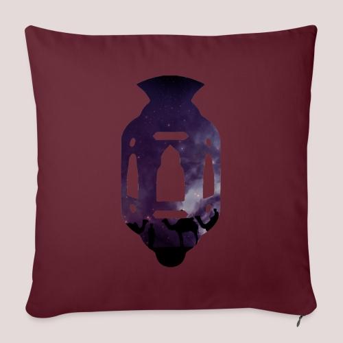 La Lanterne mauve - Housse de coussin décorative 45x 45cm