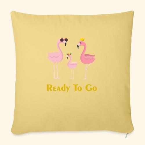 flamingo family ( ready to go ) - Sofa pillowcase 17,3'' x 17,3'' (45 x 45 cm)