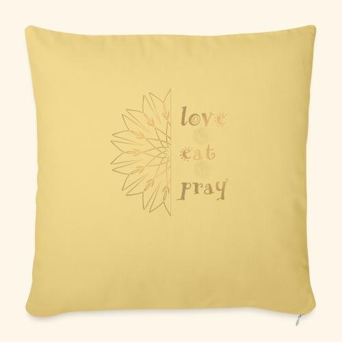 Eat Love & Pray - Sofa pillowcase 17,3'' x 17,3'' (45 x 45 cm)