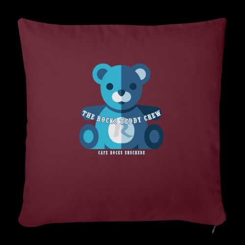 Rocks Teddy Bear - Blue - Sierkussenhoes, 45 x 45 cm