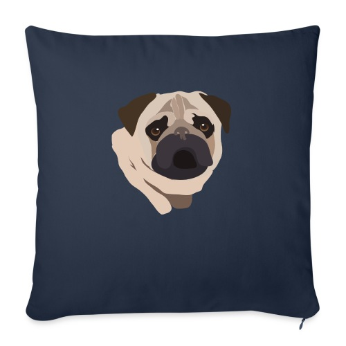 Pug Life - Sofa pillowcase 17,3'' x 17,3'' (45 x 45 cm)