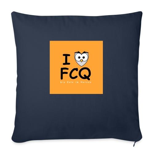 I Love FCQ button orange - Sofakissenbezug 44 x 44 cm