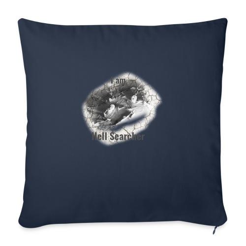 I am Hell Searcher T-Shirt White - Sofa pillowcase 17,3'' x 17,3'' (45 x 45 cm)