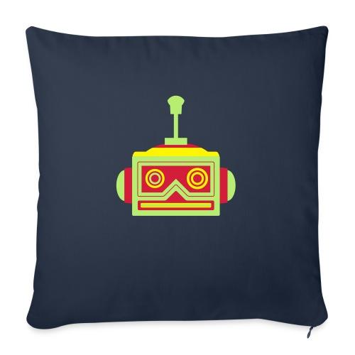 Robot head - Sofa pillowcase 17,3'' x 17,3'' (45 x 45 cm)