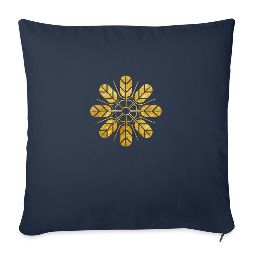 Inoue clan kamon in gold - Sofa pillowcase 17,3'' x 17,3'' (45 x 45 cm)