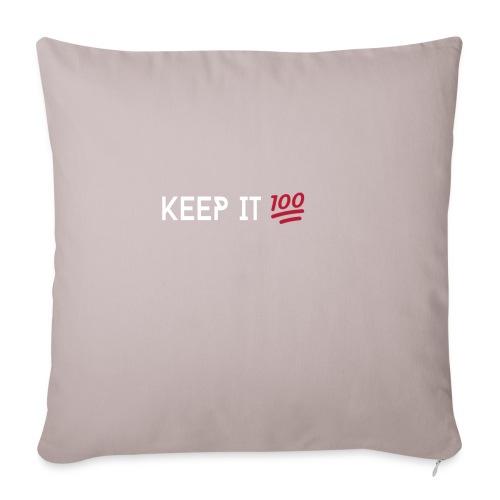 KEEP IT 100 WIT png - Sierkussenhoes, 45 x 45 cm