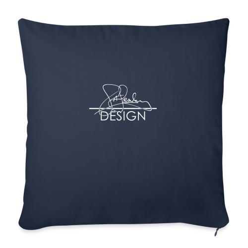 sasealey design logo wht png - Sofa pillowcase 17,3'' x 17,3'' (45 x 45 cm)