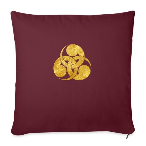 Tadpole Mon Japanese samurai clan - Sofa pillowcase 17,3'' x 17,3'' (45 x 45 cm)