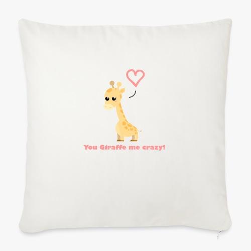 Giraffe Me Crazy - Pudebetræk 45 x 45 cm