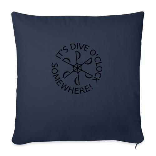 Dive o clock Black - Sofa pillowcase 17,3'' x 17,3'' (45 x 45 cm)