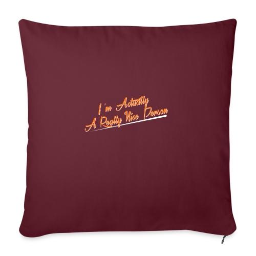 nice-person - Sofa pillowcase 17,3'' x 17,3'' (45 x 45 cm)