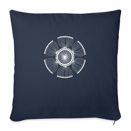 White Poppy Seed Mandala II - Sofa pillowcase 17,3'' x 17,3'' (45 x 45 cm)