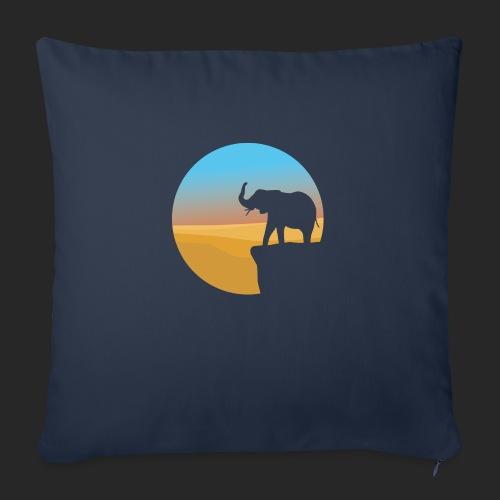 Sunset Elephant - Sofa pillowcase 17,3'' x 17,3'' (45 x 45 cm)