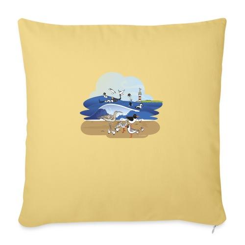 See... birds on the shore - Sofa pillowcase 17,3'' x 17,3'' (45 x 45 cm)