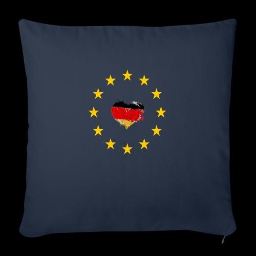 Europa Deutschland Herz - Sofakissenbezug 44 x 44 cm