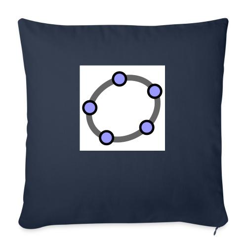 GeoGebra Ellipse - Sofa pillowcase 17,3'' x 17,3'' (45 x 45 cm)
