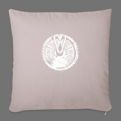 Maschinentelegraph (white oldstyle) - Sofa pillowcase 17,3'' x 17,3'' (45 x 45 cm)