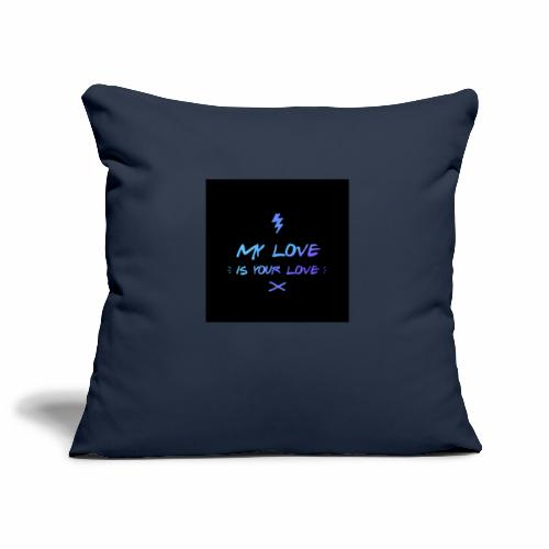 my love is your love - Housse de coussin décorative 44 x 44 cm