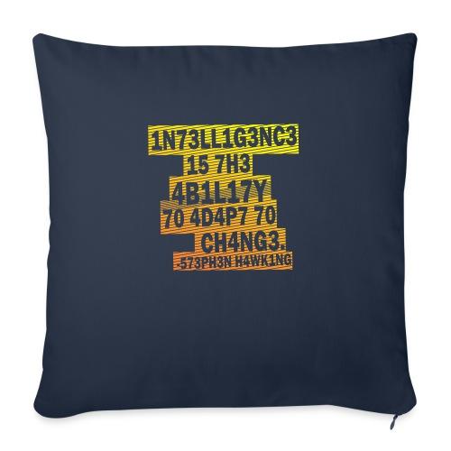 Stephen Hawking - Intelligence - Sofa pillowcase 17,3'' x 17,3'' (45 x 45 cm)
