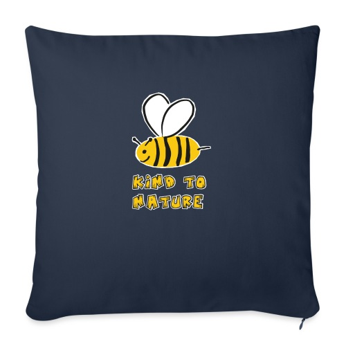 Bee kind to nature Bienen retten - Sofakissenbezug 44 x 44 cm