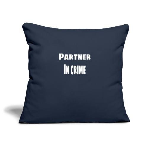 Partner in crime - Soffkuddsöverdrag, 45 x 45 cm