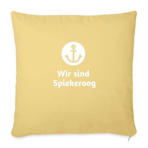 Wir sind Spiekeroog Logo weiss - Sofakissenbezug 44 x 44 cm