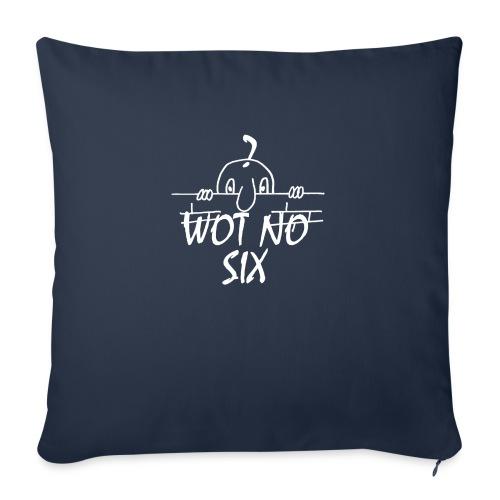 WOT NO SIX - Sofa pillowcase 17,3'' x 17,3'' (45 x 45 cm)