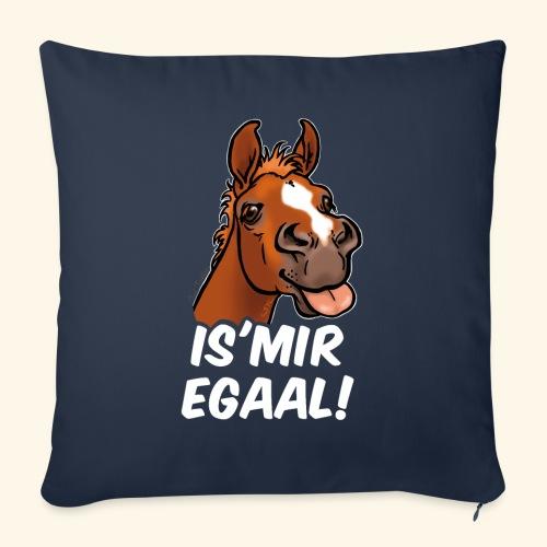 Fohlen Is Mir Egaal! (weisser Text) - Housse de coussin décorative 45x 45cm