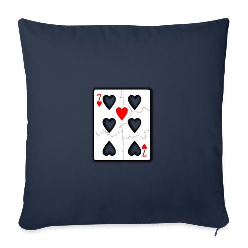 LOVERS N7 - Housse de coussin décorative 45x 45cm
