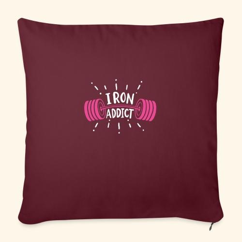 Iron Addict I VSK Funny Gym Shirt - Sofakissenbezug 44 x 44 cm