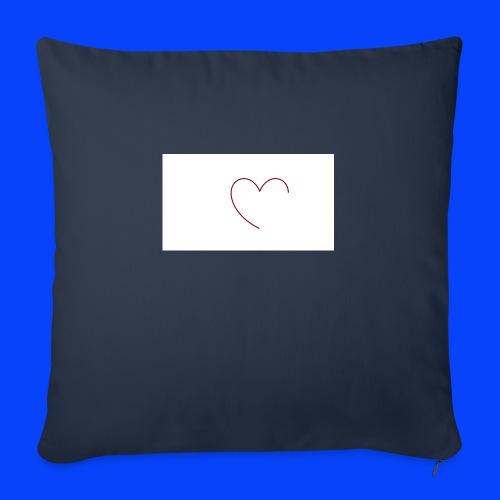 t-shirt bianca con cuore - Copricuscino per divano, 45 x 45 cm