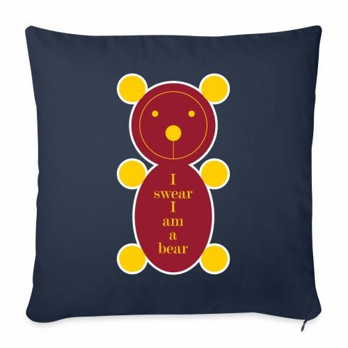I swear I am a bear 001 - Sierkussenhoes, 45 x 45 cm