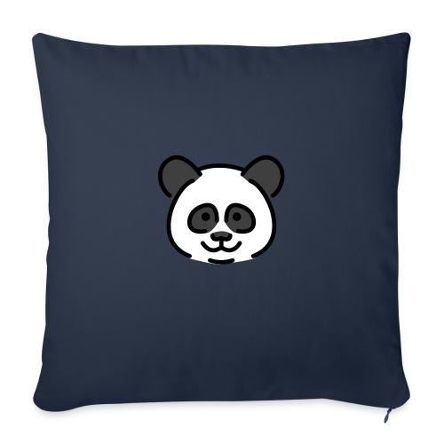panda head / cabeza de panda - Funda de cojín, 45 x 45 cm
